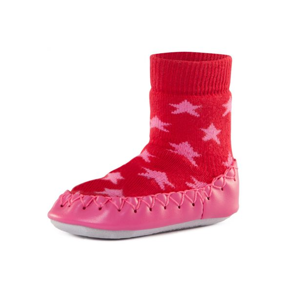Nowali Moccasin Pink Stars